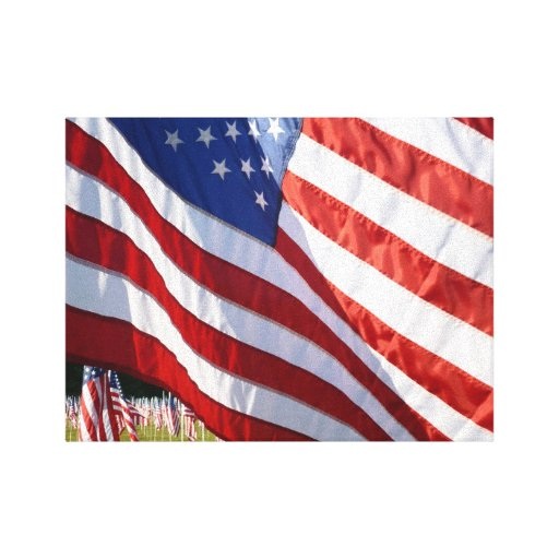 Field of Flags 1 canvas art print Gallery Wrap Canvas
