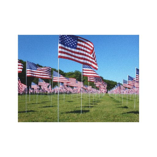 Field of Flags 3 canvas art print Gallery Wrap Canvas