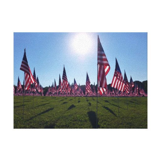 Field of Flags 4 canvas art print Canvas Print