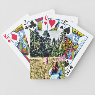 Field of flowers in Bic Bicycle Playing Cards