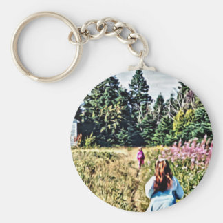 Field of flowers in Bic Keychain