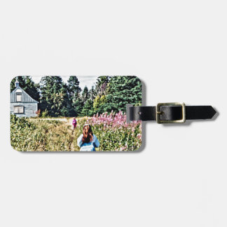 Field of flowers in Bic Luggage Tag