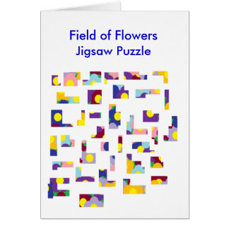 Field of FlowersJigsaw Puzzle Card