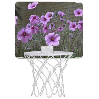 Field of Geraniums Mini Basketball Backboard