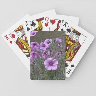 Field of Geraniums Poker Deck