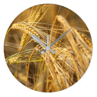 Field of gold (wheat ears) large clock