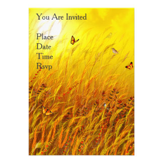 "Field of Grass 5"" X 7"" Invitation Card"