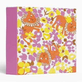 Field of Lions and Flowers Vinyl Binder