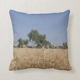 Field Of Oats Throw Pillow