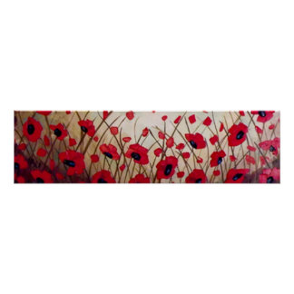 """""""Field of Poppies 1"""", Painting by Linda Powell Poster"""