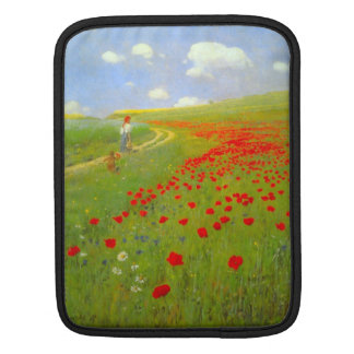 Field of Poppies by Pal Szinyei Merse iPad Sleeve