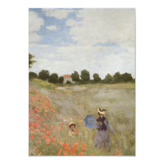 Field of Poppies Claude Monet Card