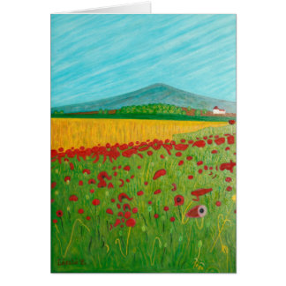 Field of Poppies Note Card
