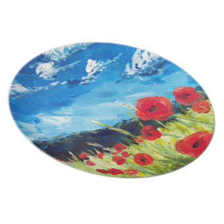Field of Poppies plate