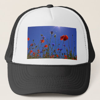 field-of-poppies trucker hat