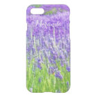 Field of Purple Lavender Flowers Personalized iPhone 8/7 Case