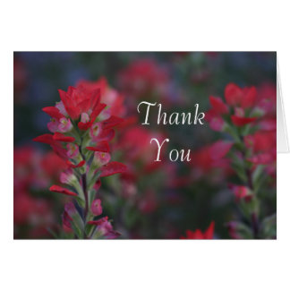 field of red flowers Thank you Card