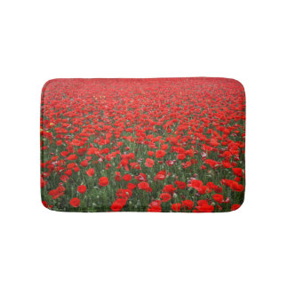 Field of Red Poppies Bath Mat