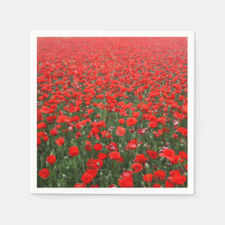 Field of Red Poppies Paper Napkins
