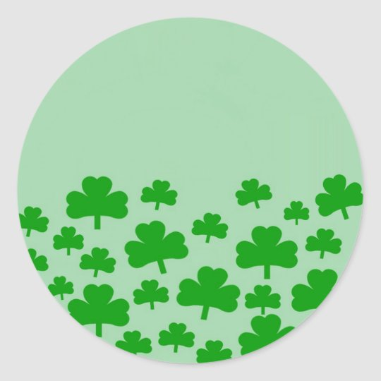 Field of Shamrocks Classic Round Sticker