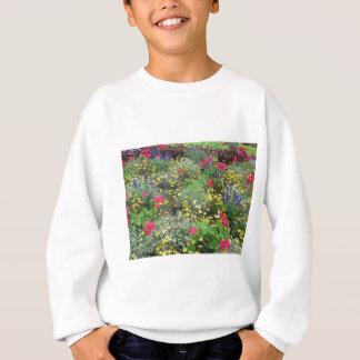 Field of spring flowers in bloom sweatshirt