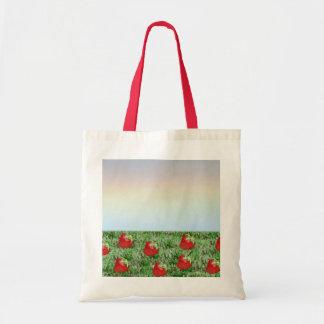 Field of Strawberries Tote Bag
