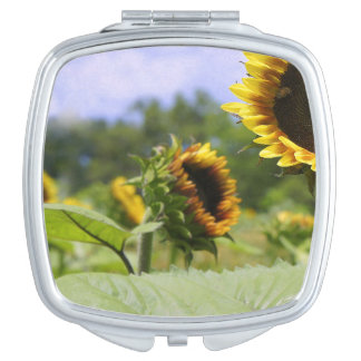 Field of Sunflowers Mirror For Makeup