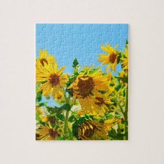 Field of Sunflowers Photograph Jigsaw Puzzle