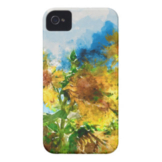 Field of Sunflowers Watercolor iPhone 4 Cover