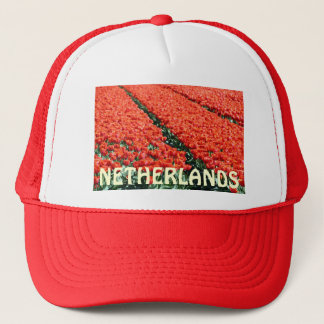 Field of tulips trucker hat