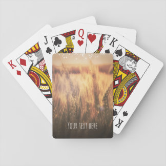 Field of Wheat Rustic Country Wedding Favor Playing Cards