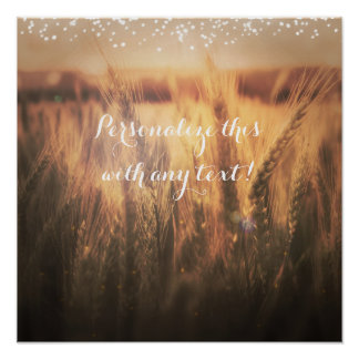 Field of Wheat Rustic Wedding Banner Poster