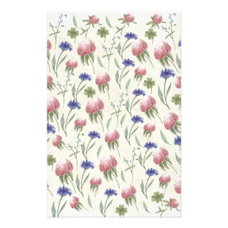 Field of wild flowers stationery paper