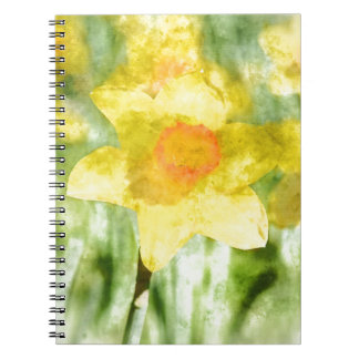 Field of yellow daffodils Watercolor Notebooks