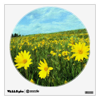 Field of Yellow Wall Sticker