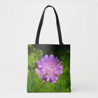 Field Scabious All Over Print Tote Bag