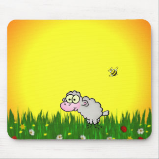 Field Sheep Mouse Pad