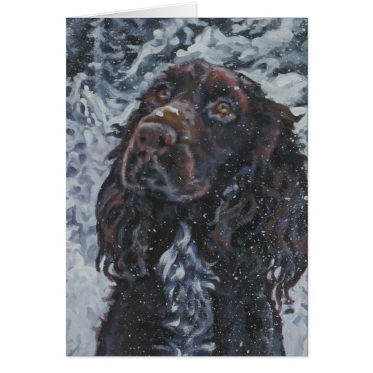 field spaniel christmas card