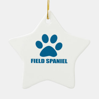 FIELD SPANIEL DOG DESIGNS CERAMIC ORNAMENT