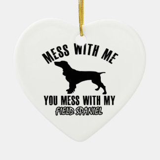 FIELD SPANIEL dog designs Ceramic Ornament