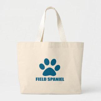 FIELD SPANIEL DOG DESIGNS LARGE TOTE BAG
