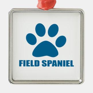 FIELD SPANIEL DOG DESIGNS METAL ORNAMENT