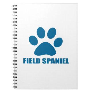 FIELD SPANIEL DOG DESIGNS NOTEBOOK