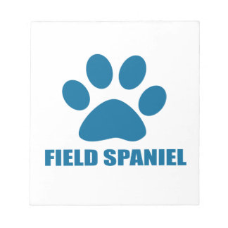 FIELD SPANIEL DOG DESIGNS NOTEPAD