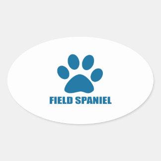 FIELD SPANIEL DOG DESIGNS OVAL STICKER