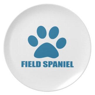 FIELD SPANIEL DOG DESIGNS PLATE
