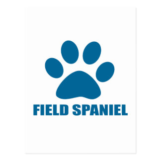 FIELD SPANIEL DOG DESIGNS POSTCARD