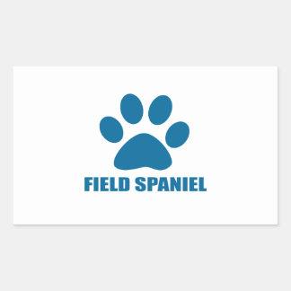 FIELD SPANIEL DOG DESIGNS STICKER