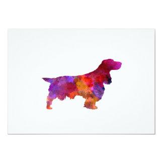 Field Spaniel in watercolor Card