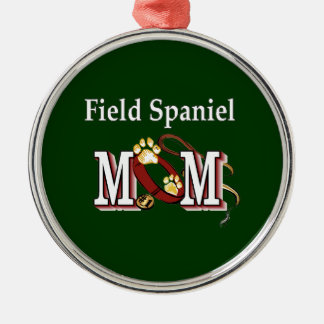 Field Spaniel Mom Gifts Silver-Colored Round Ornament